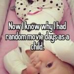 Now I know why I had random movie days as a child.