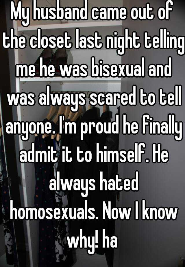 My husband is bisexual