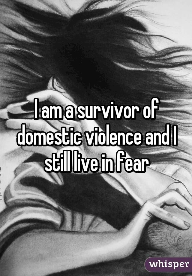 I am a survivor of domestic violence and I still live in fear