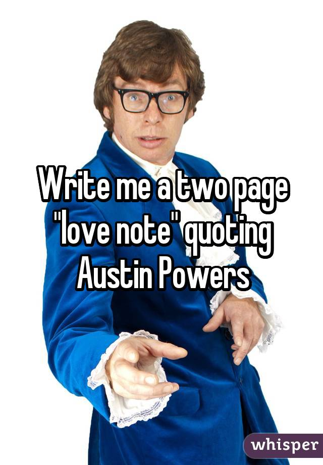 Write me a two page
