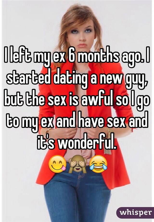Ex already dating someone new