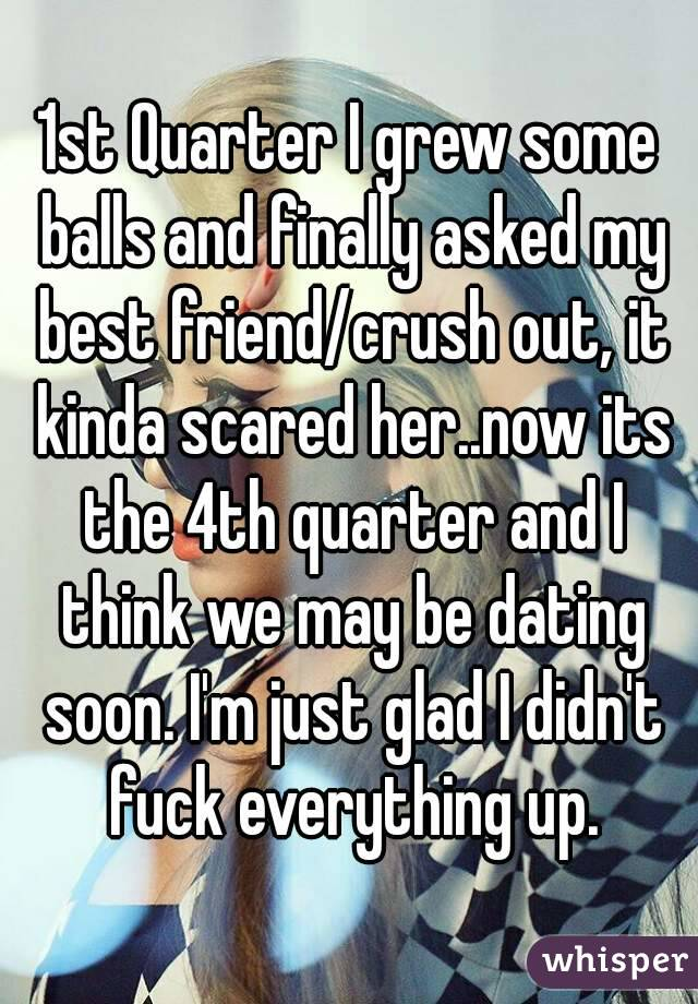 i think my best friend is dating my ex My best friend is now dating my ex this wouldn't be a problem but i still love her since this has happened it has intensified anything i felt for her before they have been dating for about three weeks now, and i have talked to both of them about what i feel neither give me a good response.