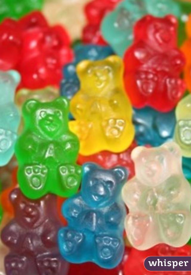 When I'm bored at work I take photos of gummy bears They are best friends
