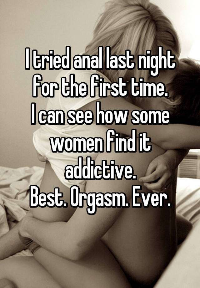 First orgasm confessions