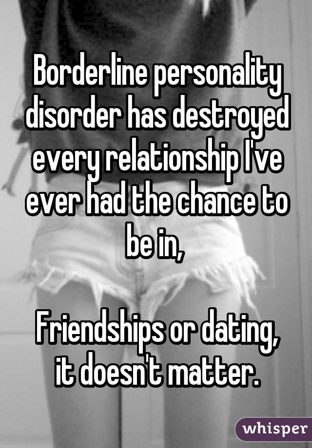 Dating a bpd girl