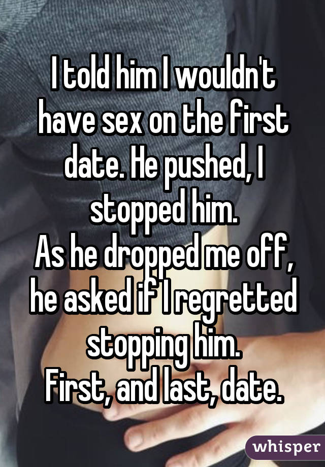 Having sex before officially dating