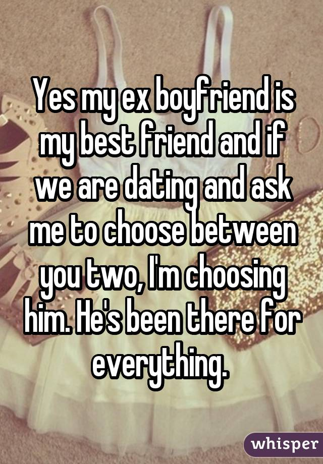 my boyfriends ex is dating his best friend online dating work