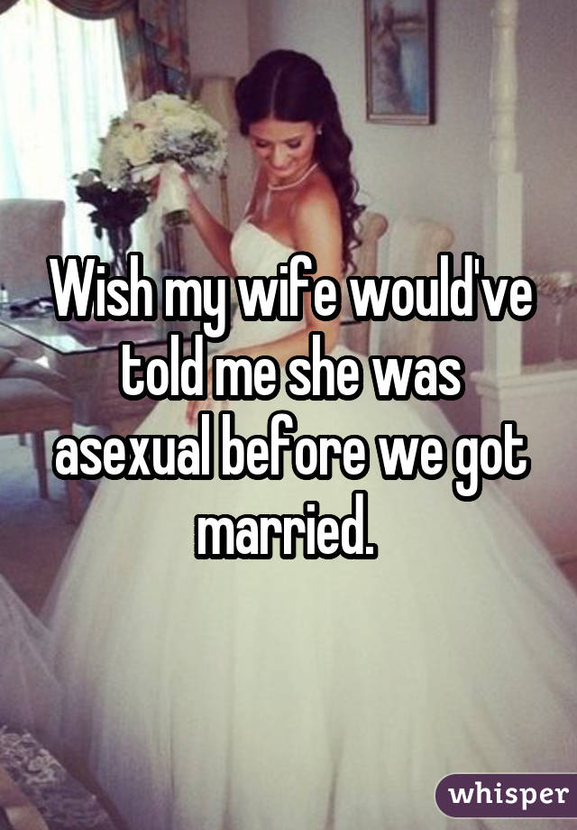 I m becoming asexual marriage