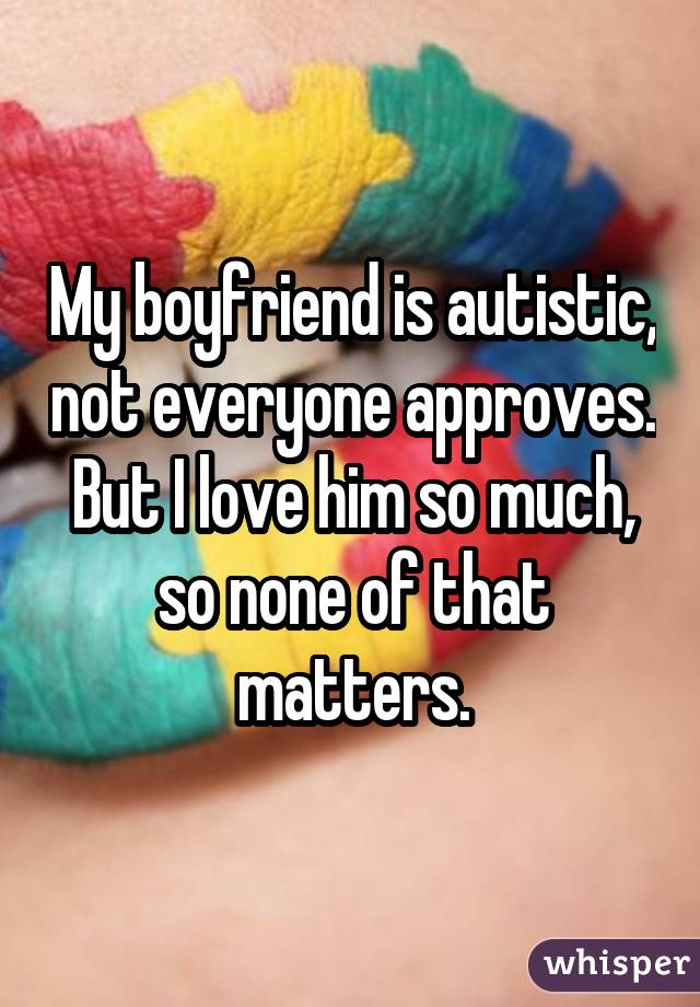 Dating an autistic person